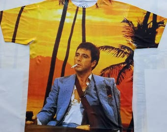 Scarface Franks office sublimation T shirt