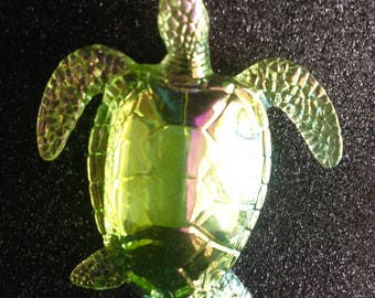 Acrylic green sea turtle magnet
