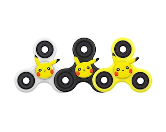 Pokemon Pikachu Fidget Spinner - Pikachu Spinner, Pokemon Fidget Spinner WHITE BLACK YELLOW