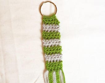 Handmade Crochet Harry Potter Knitted Slytherin Keyring
