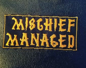 Mischief Managed patch - Harry Potter gryffindor Hufflepuff Slytherin Ravenclaw