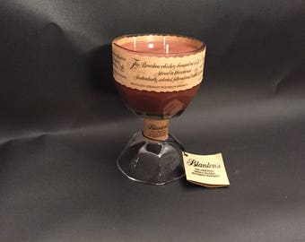 Blanton's Candle Bourbon WHISKEY BOTTLE Candle With Attached Pedestal Base. Buffalo Trace Distillery. 750ML. Made to Order !!!!!!