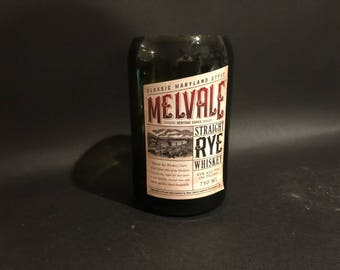 Handcrafted Candle UP-CYCLED Melvale Maryland MD Rye Whiskey Soy Candle Short Cut. Made To Order !!!!!!!