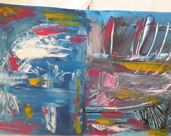 Abstract, acrylic pallet knife texture