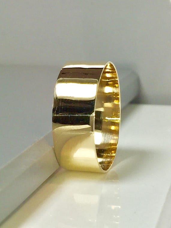 BIG SALE 14k 10k Solid Gold Cigar Bands Women Gold Ring