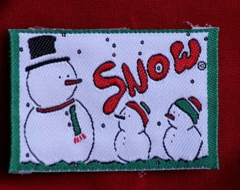Coat, pattern child fusible ref 137 snowman Applique iron-on or sew