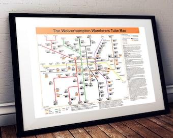 The Wolverhampton Wanderers Tube Map
