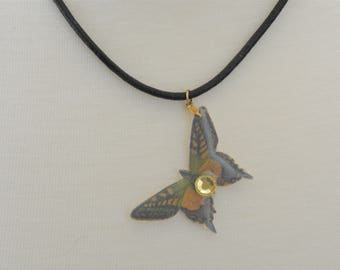 Green & Yellow Butterfly Necklace