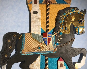 Carousel Horse Wall Art - Medieval CH13