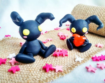 Figures Heartless, Kingdom Hearts, Polymer Clay