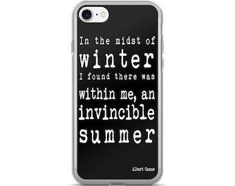 Quote iphone case, iphone 6 case, iphone 6 plus case, iphone 6s case, iphone 7 case, iphone 7 plus case, iphone se case, iphone 5s, A Camus