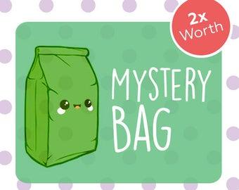Mystery Bag, Vegan Gift, Vegan Surprise, Surprise Collection, Mystery Box, Vegan Jewelry, Vegan Jewellery, Vegan Stickers.
