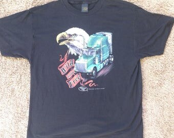 Vintage 3D Emblem, Wild and free Truckers only shirt