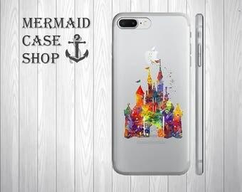 Castle iphone 8 case disney iphone x case castle iphone 6 6s 7 plus 8 x  case disney samsung galaxy castle s6 s7 edge s8 plus case /DC 706