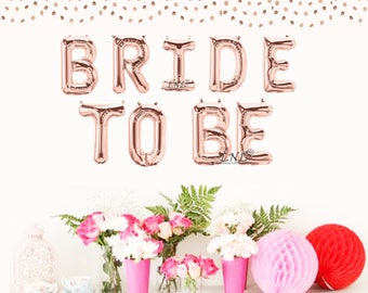 Bride To Be Rose Gold Balloon, Bridal Shower Balloon, 16 inch balloons, letter balloons, Silver Balloons, Bridal, Bridesmaids, Gold Balloons