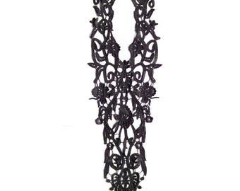 Lace long black application