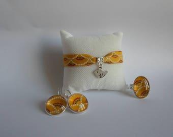 Yellow Japanese fabric ornament