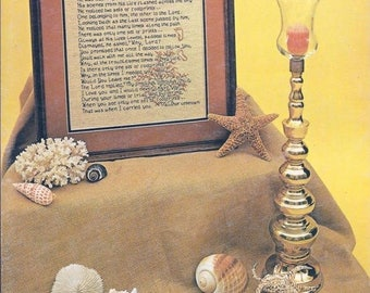 Summer Sale His Promise Footprints Leaflet #4 Needle Nook Designs Copyright 1983