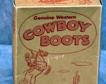 S Youth Genuine Western Cowboy Boot Box (only)