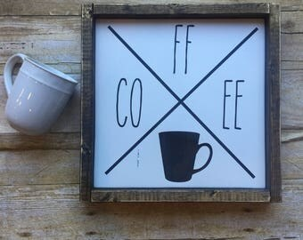 Wood Sign, Coffee, Coffee Kitchen sign, Coffee Lovers gift, Unique gifts, Coffee Bar, Latte, Coffee Decor Sign