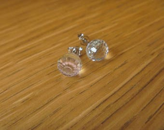 Earrings small diamonds purple hues