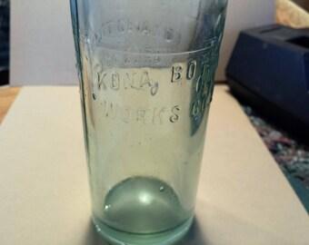 Kona Bottling Works Co. Ltd. bottle c. 1907 Hawaiian