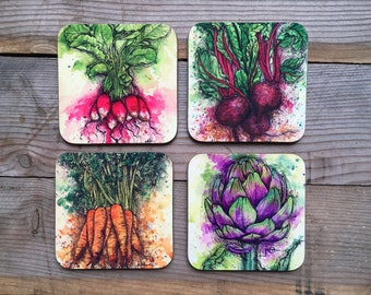 Vegetable Coaster Set