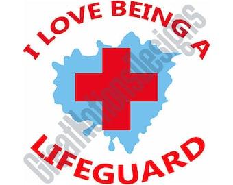 Lifeguard SVG - HTV - Vinyl Cutting Graphic Art
