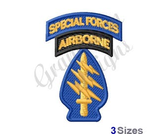 Special Forces Airborne - Machine Embroidery Design