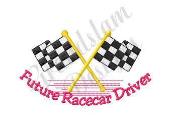 Future Race Car Driver - Machine Embroidery Design