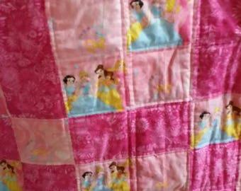 Disney Princess Quilt in Pink