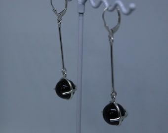 Black onix earring