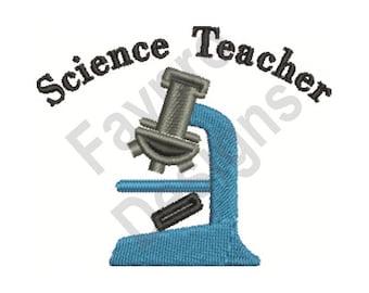 Science Teacher - Machine Embroidery Design