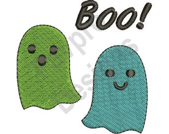 Boo Ghosts - Machine Embroidery Design