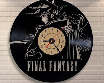Final fantasy 7 vinyl record wall clock