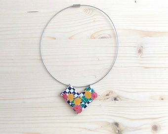 Origami paper Choker necklace