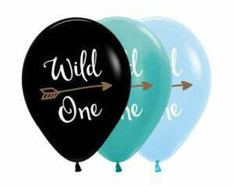 Wild One Balloons, perfect for a Western Theme or even a Bachorolette party, balloon size 30cm, Pkt of 5