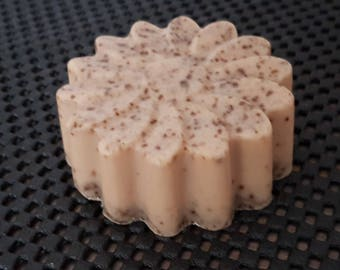 """Gentle Exfoliating """"Oatmeal & coconut"""" - """"Nuts and Oats"""" exfoliating soap (Handmade) - 80 gr"""
