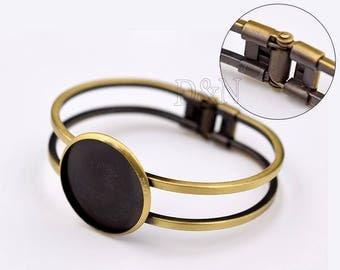 5pcs/Lot blank cuff bracelet 25mm-1'' Bezel Bracelet Blank-Bracelet 25mm-Cabochon bracelet blanks-Bezel Setting Blank-20mm/25mm available