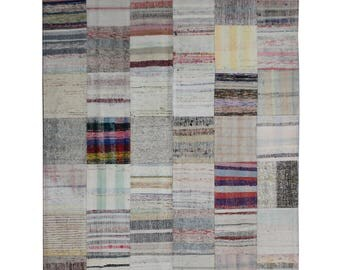 FREE SHIPPING-Handmade Patchwork Kilim Rug