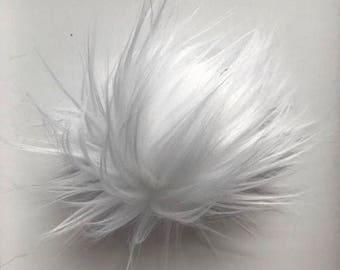 "WHITE / 6"" Faux Fur PomPom"