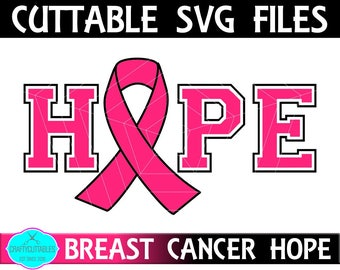 Breast Cancer SVG, PNG Files Silhouette Cameo and Cricut Files