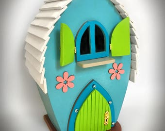 OOAK Handmade Wooden Fairy House by Tiggymus & Co