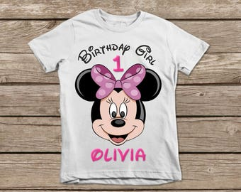 Disney Birthday Girl Shirt, Minnie Mouse Printable Birthday Shirt, Minnie Mouse Iron On, Minnie Shirt, Minnie Mouse Sticker, Pool Party
