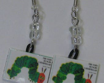 The Very Hungry Caterpillar Mini Book Earrings E283