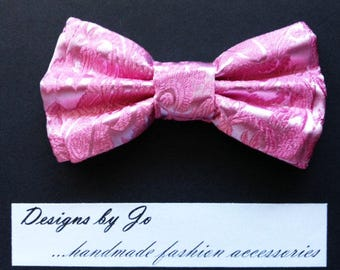 Mens Bow Tie,Formal Bow Tie,Suit Bowtie,Coral Bow Tie,Brocade Bow Tie,Prom Bow Tie,Wedding Bow Tie,Mens Fashion Accessories,Mens Bowtie M699