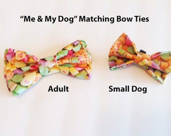 Bow Tie, Mens Bow Tie, Dog Bow Ties, Matching Dog Bow Tie, Dad and Son Bow Tie,  Valentines Bow Tie, Dog Bowtie, Bowtie, Boys Bow Tie  DS749