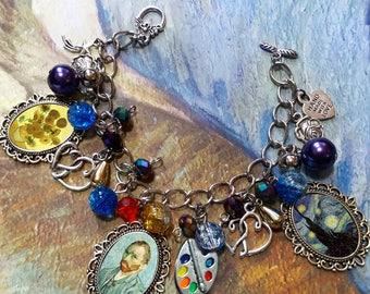Vincent Van Gogh Charm Bracelet