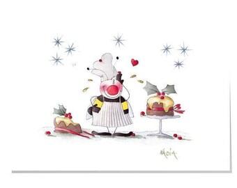 Happy Garden X1-Christmas bake off Christmas Card