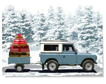Land Rover Christmas card
